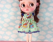 Sweets Dress for Blythe  with Flutter Sleeves