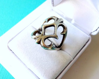 Navajo Sterling Silver and Sand Cast Ring Size 9