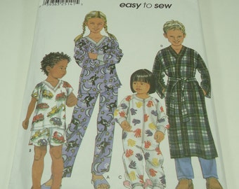 Simplicity Toddlers' And Child's Loungewear Pajamas Pattern 9853 Size 3, 4, 5, 6 Easy-To-Sew