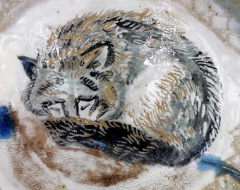 sleeping wolf plate