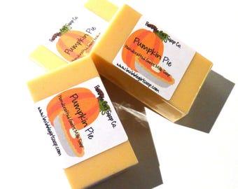 Pumpkin Pie MINI GUEST Size Handmade Goats Milk Soap Bar