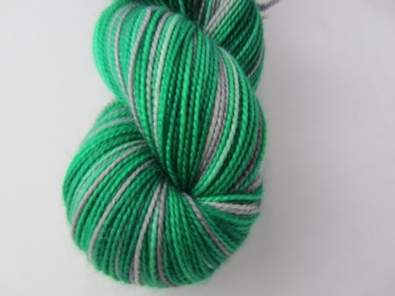 Slyther On - Dyed to Order - Hand Dyed - Merino Wool Yarn - Fingering Weight - Harry Potter Yarn