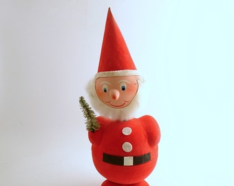Vintage Christmas Decoration Santa Bobble Head Nodder Candy Container German