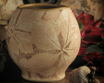 Tea Bowl with Hickory and Lady Fern