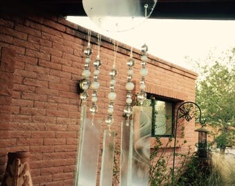 Windchime White Wispy Glass