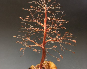 Hand Twisted Metal Copper Wire Tree Art Sculpture  - 2246 - FREE SHIPPING