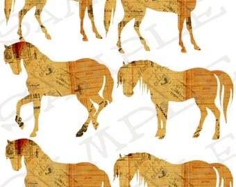 Ephemra Horse and Pony Collage Sheet 3