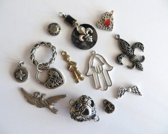 Pewter Charms-12 Piece Milagro & Charm Assortment