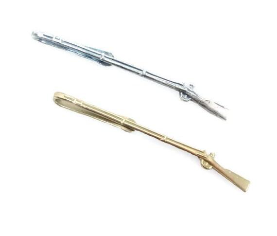 1795 Musket Tie Bar, Brass or Silver