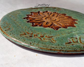 Trivet, Handmade coaster, Pottery Trivet, Hot Pad, Ceramic trivet, Pot Holder, Handmade hot pad