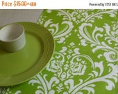 ON SALE LIME Damask Table Runner,  Chartreuse Damask Table Runners,  Lime Green Ossyr Any Print in Shop