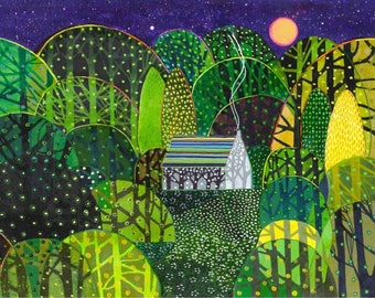 Hester's Woods. A limited edition, numbered and signed A3 print from an Original Painting by Richard Friend