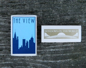 Vintage Matches Matchboxes from The View & Windows on the World Restaurants NYC World Trade Center
