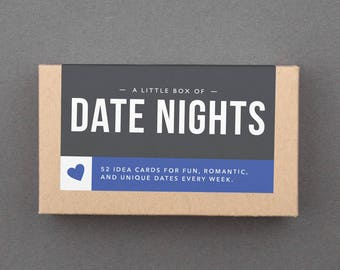 Fun Bridal Shower, Engagement, Wedding, Anniversary Gift for Couple, Bride, Groom. Date Nights, Date Night Box, Anniversary Cards. (L5DAT)