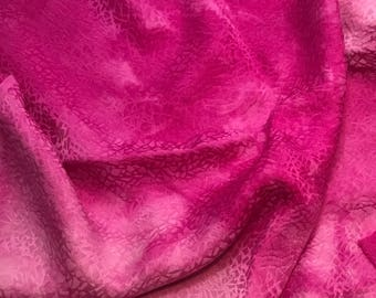Hand Dyed Orchid Pink PEBBLES - Silk Jacquard Fabric - 1 Yard