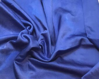 """Hand Dyed Periwinkle Blue - Silk and Cotton Blend SATIN Fabric - 18""""x22"""""""