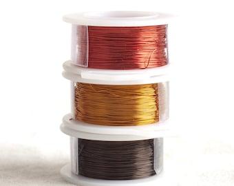 Artistic Color wire, Wire Crochet Supply , Wire for Wire Crochet , Copper wire - Earth