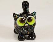 Tortoise Shell Kitty Cat Lampwork Bead