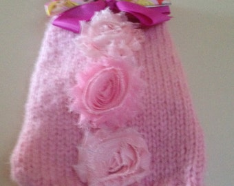 XS Pink Bow Sweater-Disney Bow-Dog Coat-Yorkie Clothes-Pet-Chihuahua-Maltese