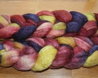 Polwarth Tussah Silk Spinning Fiber - 'Suffragette City'
