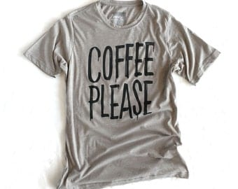 Coffee Please - Mens crew neck