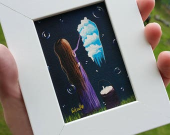 Miniature Framed Print - ACEO - Framed Canvas Print - Comes With Frame - Gift Idea - ACEO ART - Canvas Print - Signed by Artist - Small Art