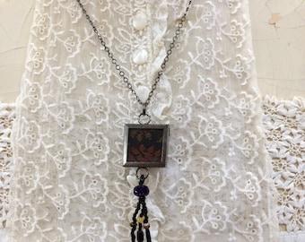 Vintage Paisley Pendant Necklace