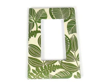 Single Rocker Switch Plate Light Switch Cover  in Rainforest   (206R)