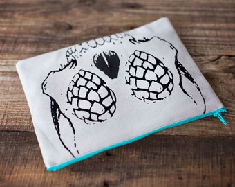Skull Craft Beer Zipper bag / Clutch