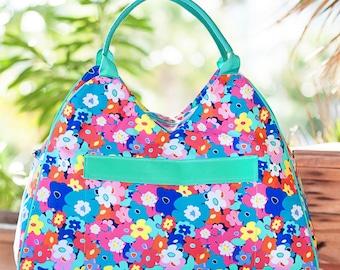 Beach Bag -Monogrammed Extra large Beach Bag, Beach Tote, Bridesmaid Gifts, Weekender Bag