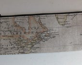Map print pencil case/pouch
