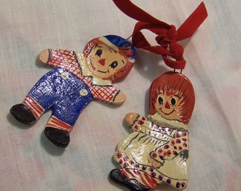 adorable raggedy ann and andy ornaments
