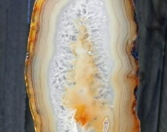 SC-260  Suspension Agate Suncatcher Polished Agate Window Art Gift