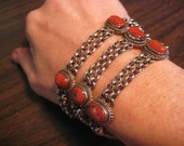 Tibet Coral Sterling silver Asian style bracelet