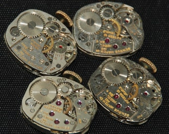 Vintage Watch Movements Parts Steampunk Altered Art Assemblage R 82