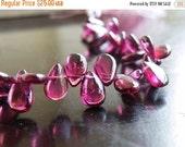 Love You 51% off Sale Rhodolite Garnet Gemstone Briolette Smooth Pear teardrop 8.5mm 22 beads