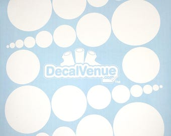 White Polka Dot Circles Wall Decals - Various sizes - Mix and Match dots vinyl stickers
