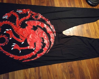 Targaryen Game Of Thrones Banner Flag Swallow Tail