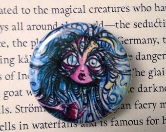 Tea Monster Button pin