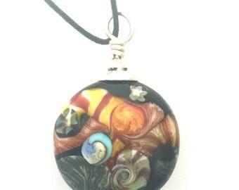 On Sale Silk Fantasy Lamp Work Bead Pendant