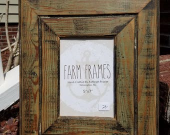 5 x 7 old vintage wood picture frame