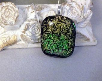 Dichroic Glass Pendant-Stars