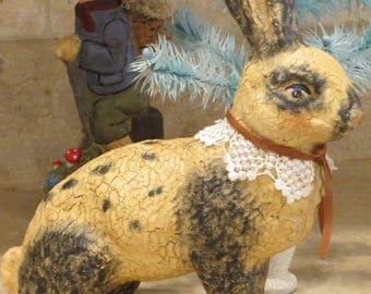 Paper mache Lg Sitting Easter Bunny Rabbit