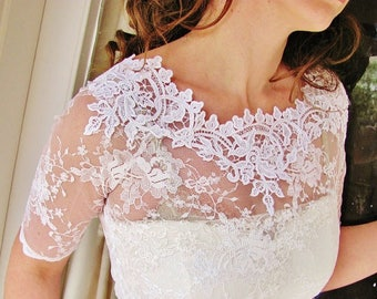 AVAILABLE AGAIN Our Bestseller Kiss Me In BARILOCHE white bridal lace top white lace top white lace blouse