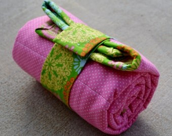 Flowered Quilted Changing Pad ideal for diaper changing on the go