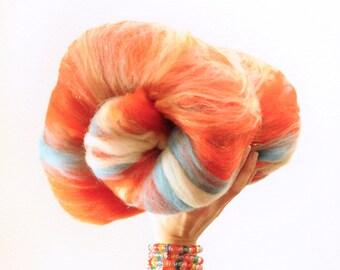 Fire and Ice - Merino Wool Art Batt 3.5oz