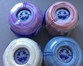 Lot of 4 balls of Cebelia DMC size 20 thread