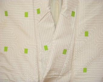Vintage kimono S521, woven design, komon, silk