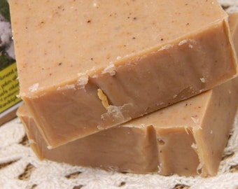 Nutcracker Goats Milk Soap with ground pecans