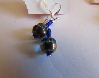 blue glass dangles